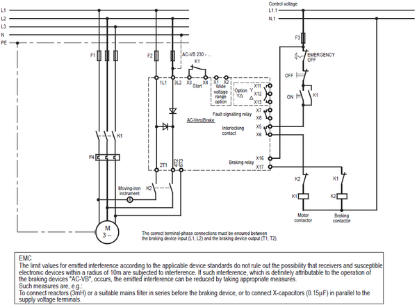 PETER ELECTRONIC, BRAKING DEVICES VERSIBRAKE 36A CONNECTION DIAGRAM