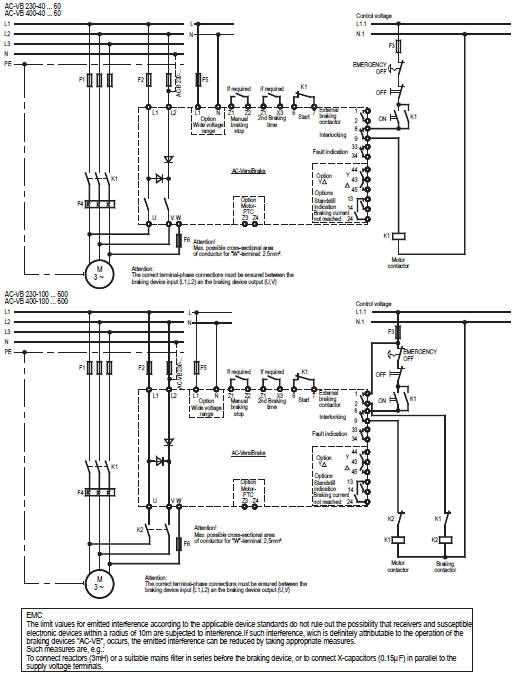 PETER ELECTRONIC, BRAKING DEVICES AC-VERSIBRAKE 40 ... 600A SERIES CONNECTION DIAGRAM