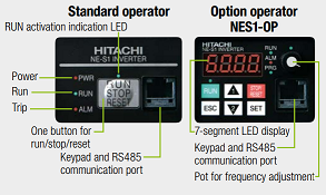 Hitachi drive NE-S1 series is easy to operate